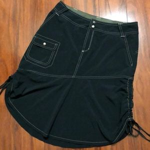 Athleta Sports Black Cinched Skirt Size 6